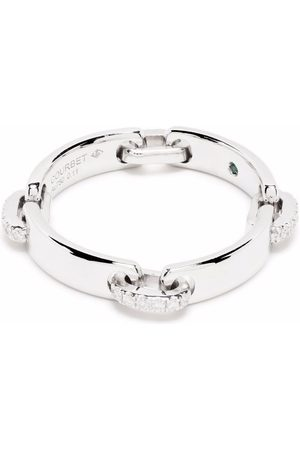 Courbet 18kt recycled white gold CELESTE laboratory-grown diamond band ring
