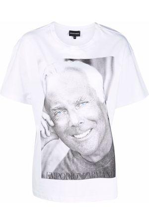 Emporio Armani Women Short Sleeve - Photograph-print cotton T-Shirt