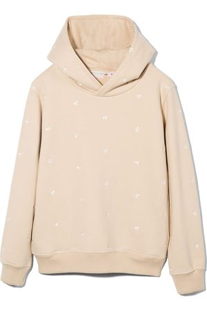 Bonpoint Girls Hoodies - Tita embroidered-cherry hoodie