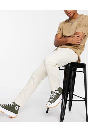 Topman Straight jeans in ecru