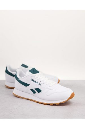 Reebok Classic Leather vegan trainers in and green
