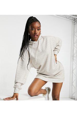 AsYou Hoodie dress in monogram print-Multi