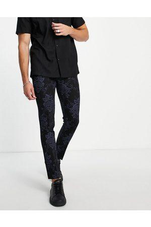 Bolongaro Floral super skinny fit suit trouser
