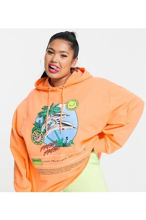 Collusion Women Sweatshirts - Plus oversized dolphin hoodie in