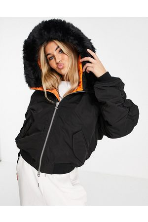 Weekday Women Bomber Jackets - Beatrice recycled bomber jacket with hood in
