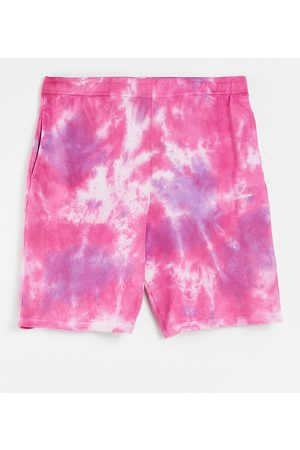 Collusion Unisex oversized tie-dye shorts co-ord