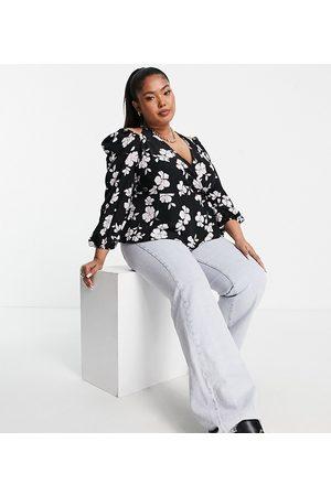 Fashion Union Plus Halter wrap blouse-Multi