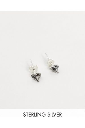 ASOS DESIGN Sterling studs with thorn design in burnished