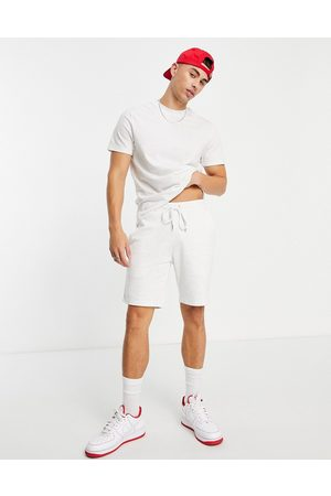 ASOS DESIGN Men Short Sleeve - Tracksuit with t-shirt and skinny jersey shorts in marl