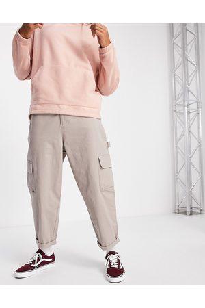 ASOS DESIGN Men Chinos - Carpenter wide leg trousers in -Neutral