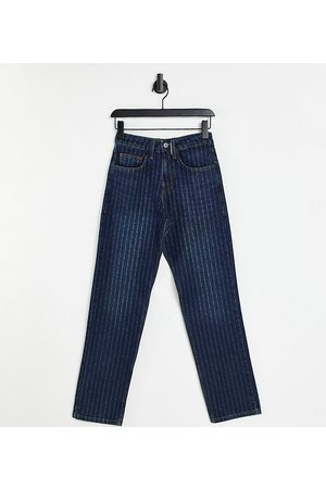 Collusion Unisex 90s straight leg jeans with laser pin stripe