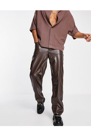 ASOS Baggy jeans in leather look