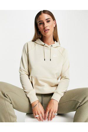Nike Essential fleece pull over hoodie in rattan -Neutral