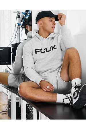 French Connection FCUK overhead logo hoodie in light