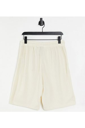 Collusion Sets - Unisex oversized ribbed shorts co-ord