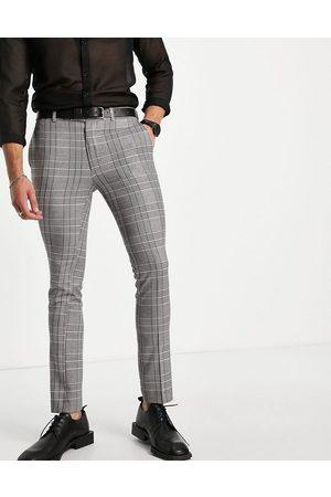 Bolongaro Trevor Men Skinny Pants - Check super skinny fit cropped suit trouser