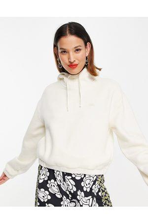 Vans Comfycush fleece hoodie in cream