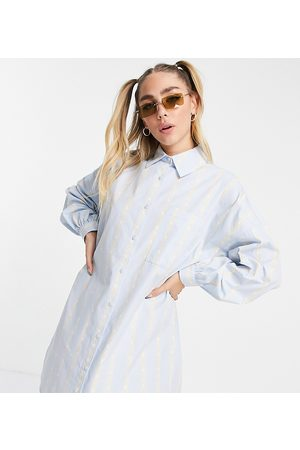 Collusion Women Casual Dresses - Stripe shirt mini dress in