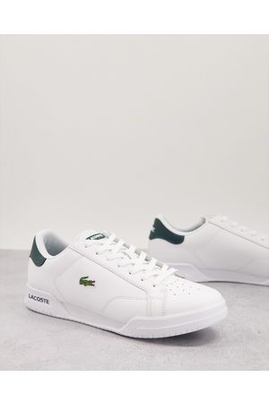 Lacoste Twin serve trainers in green