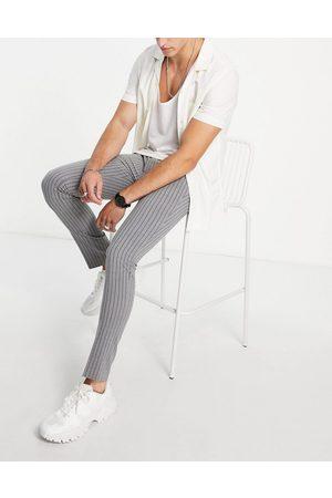 Bolongaro Trevor Stripe seersucker skinny fit suit trouser