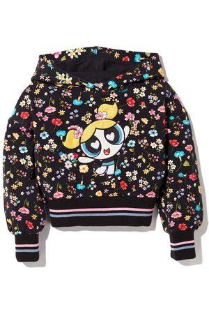 MONNALISA Bubbles floral print hoodie