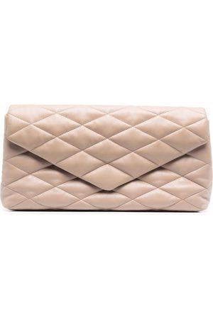Saint Laurent Sade Puffer Envelope clutch bag