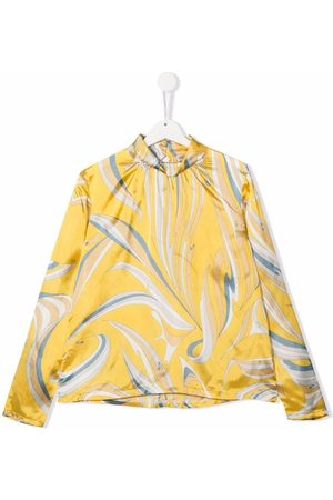 Emilio Pucci Abstract-print mock-neck blouse