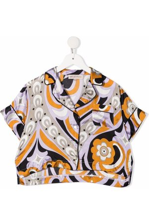 Emilio Pucci Abstract-print short-sleeved shirt