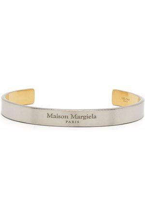 Maison Margiela Women Bracelets - Engraved logo curved bracelet