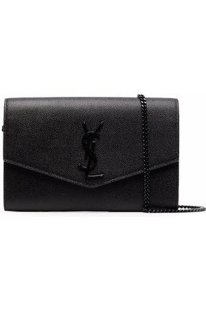 Saint Laurent Envelope leather clutch bag