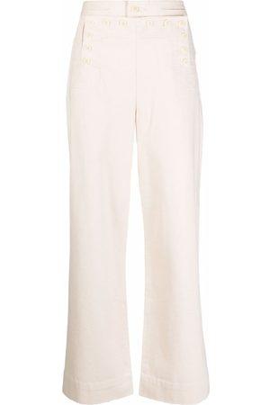 Tory Burch Women Pants - High-waisted sailor trousers