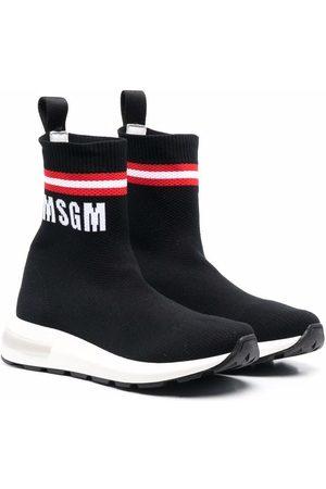 Msgm Logo-print sock trainers