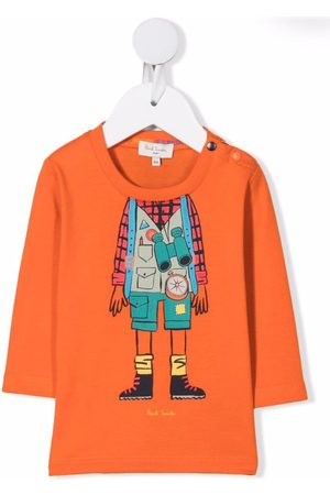 Paul Smith Baby Long Sleeve - Explorer print T-shirt