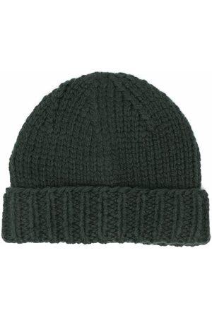 Maison Margiela Women Beanies - Ribbed-knit wool beanie