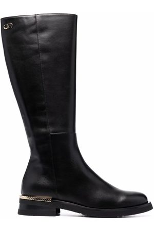 Casadei Knee-length leather boots