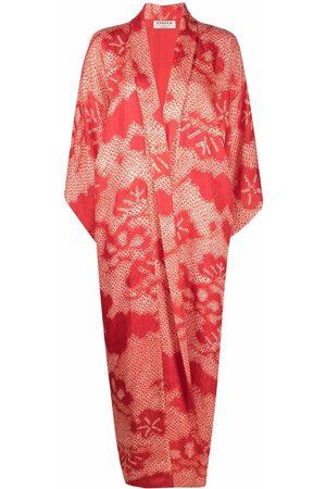A.N.G.E.L.O. Vintage Cult 1970s square-sleeved floral maxi coat