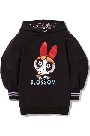 MONNALISA Blossom print sweatshirt dress