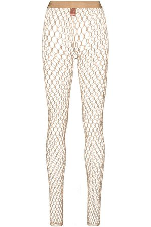 Wolford Women Stockings - X Amina Muaddi crystal-embellished net tights