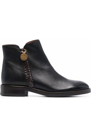 See by Chloé Logo-charm leather ankle boots