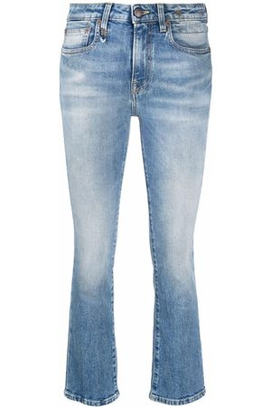 R13 High-waisted cropped skinny jeans