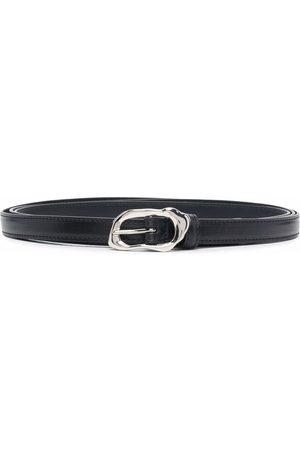 Alexander McQueen Molten thin leather belt