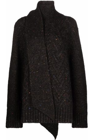 Ganni Cable knit scarf-detail jumper