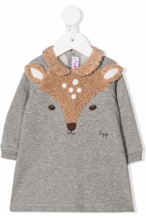 Il gufo Deer-panel knitted dress