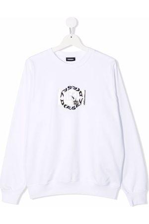 Diesel TEEN SANGRSUC double-logo cotton sweatshirt