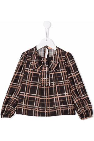 Elisabetta Franchi La Mia Bambina Logo-print bow-detailed blouse