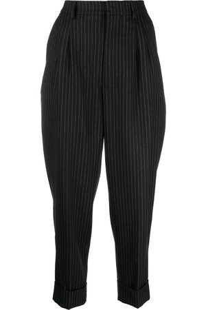 Ami Pinstriped cropped trousers