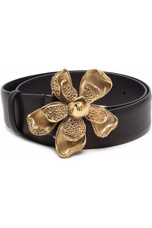 Alberta Ferretti Floral buckle belt