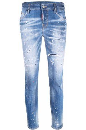 Dsquared2 Women Jeans - Distressed paint splatter jeans