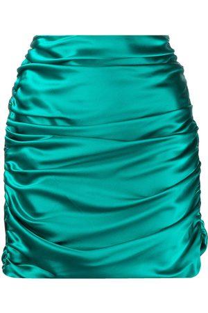 Michelle Mason Women Mini Skirts - Silk gathered mini skirt