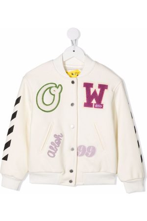 Off-White Kids OFF PATCH BOMBER VARSITY MULTICOLO